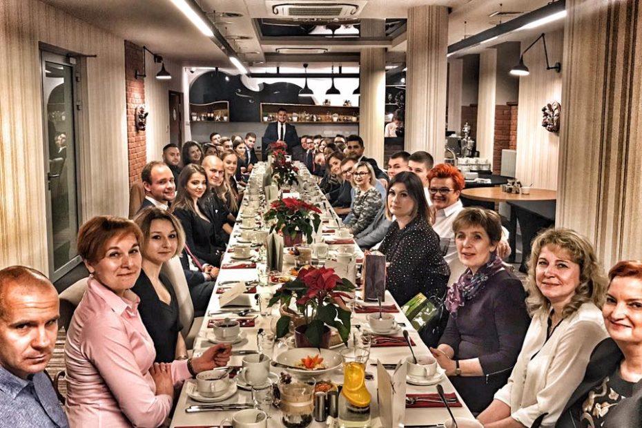 Wigiljna kolacja części naszego zespołu